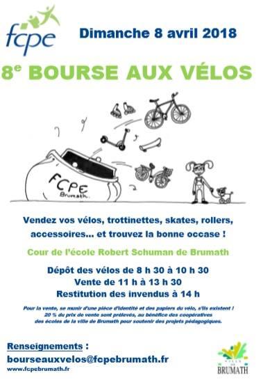 Bourse aux vélos FCPE Brumath