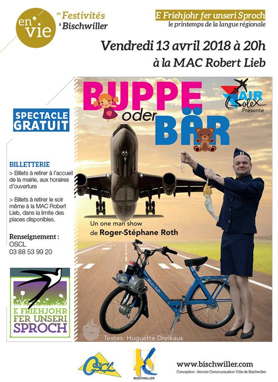 One man show Buppe oder Bär de Roger-Stéphane Roth