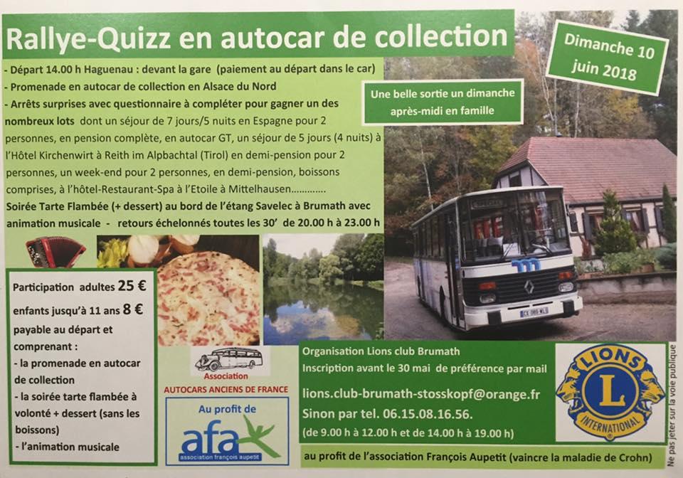 Rallye Quizz en Autocar Ancien