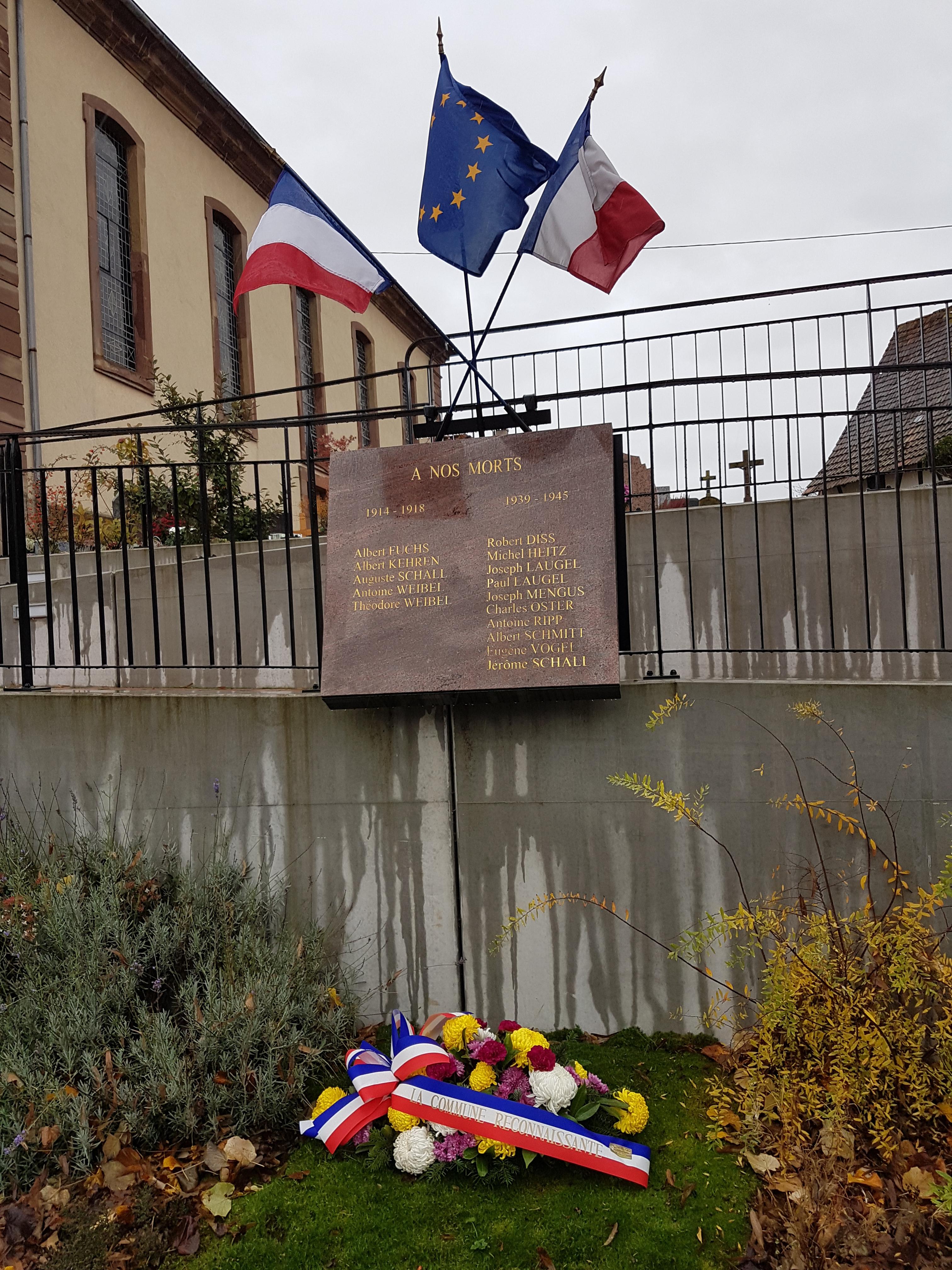 Commémoration Centenaire de l'Armistice 1918