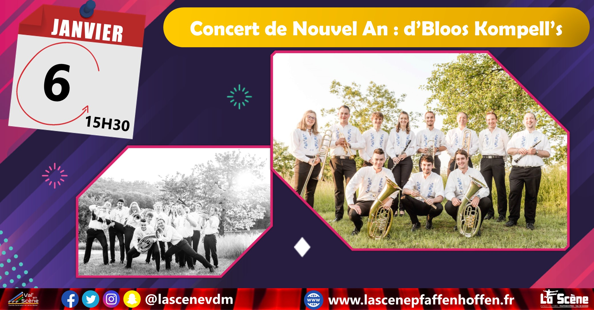 Concert de Nouvel An : d'Bloos Kompell's