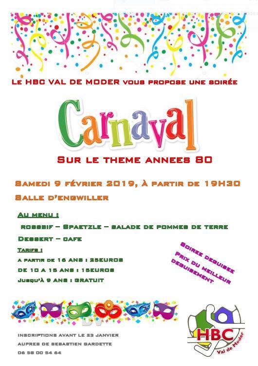 Soirée Carnaval Années 80