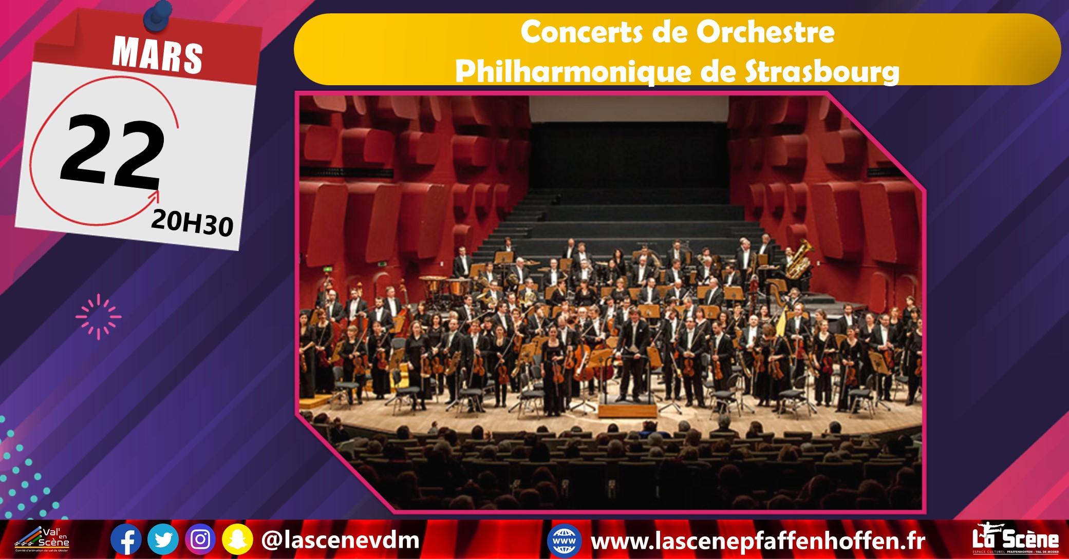 Concert de l'Orchestre Philharmonique de Strasbourg