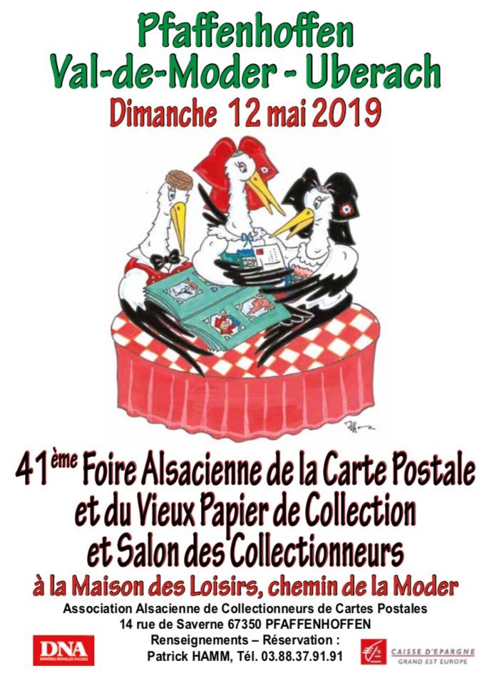 41ème Foire Alsacienne de la Carte Postale et du Vieux Papier de Collection et Salon des Collectionneurs