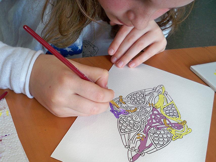 Atelier d'enluminure avec Aline Falco pour les ENFANTS