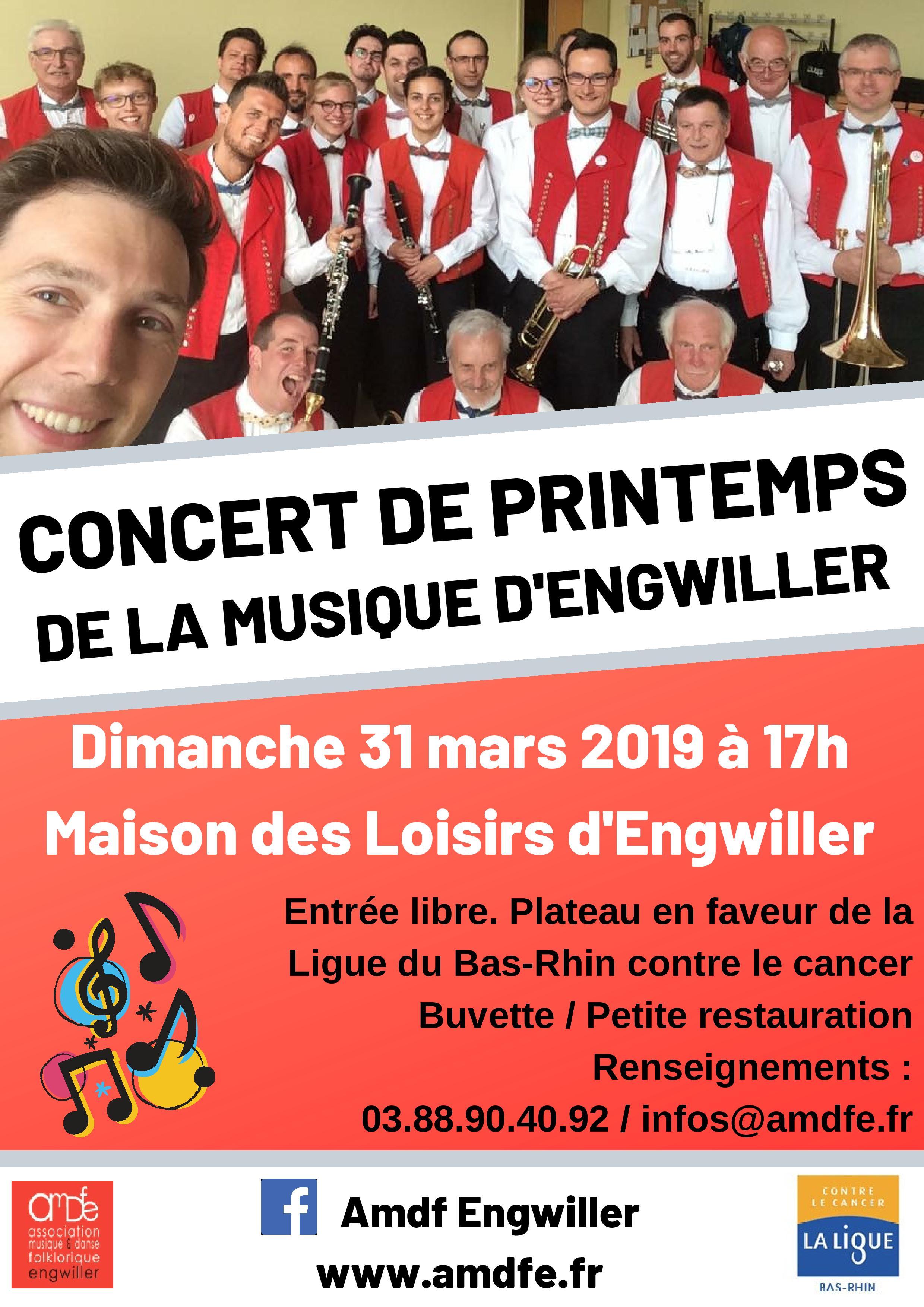 Concert de printemps de la Musique d'Engwiller