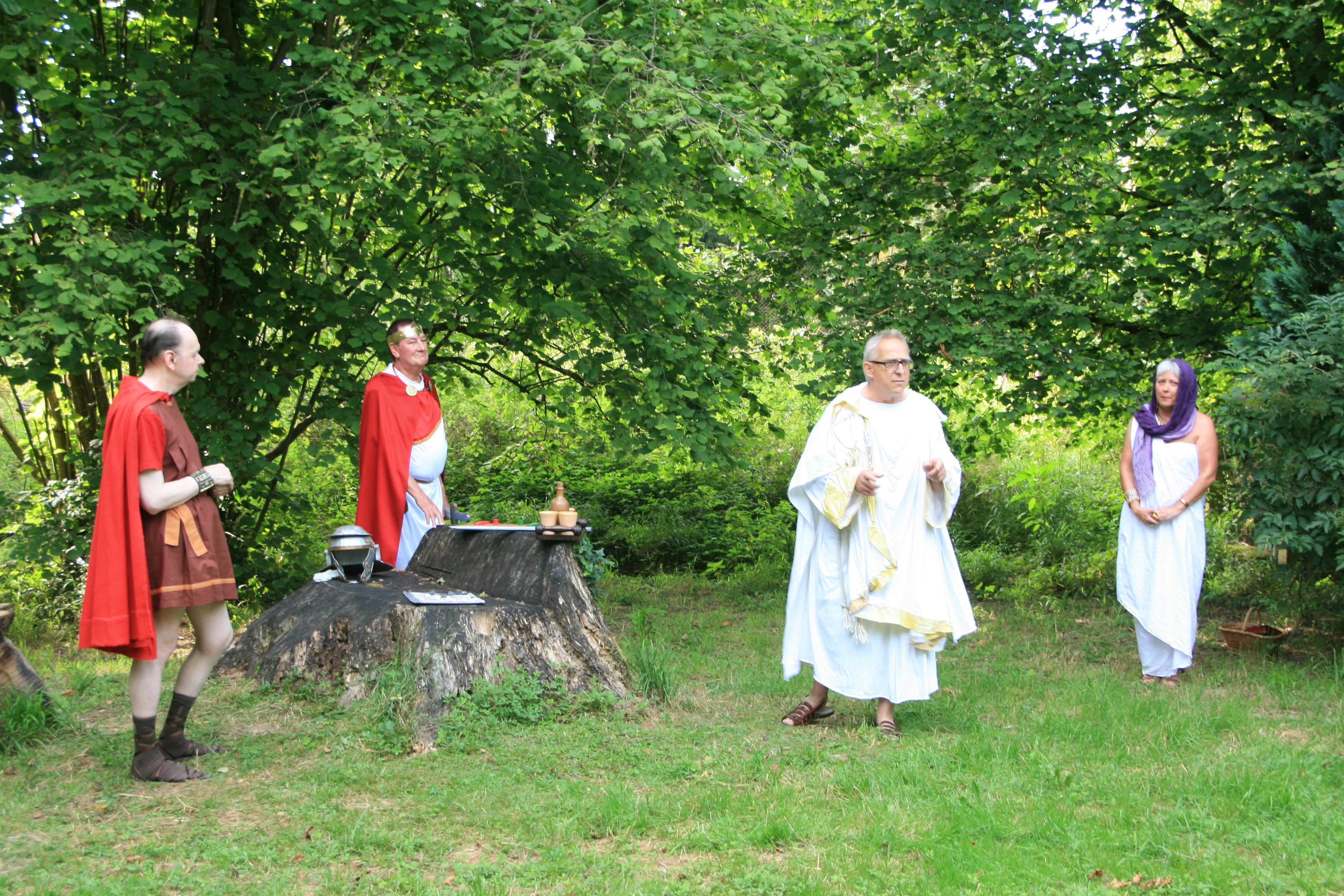 Visite guidée théâtralisée «Au temps des gallo-romains» au Gros-Chêne