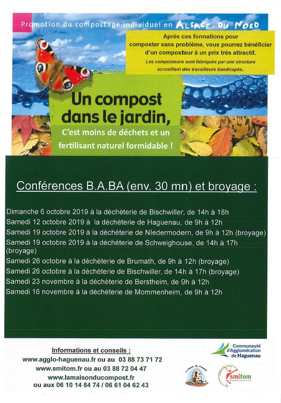 Conférences B.A.BA du compostage