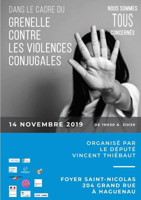 Grenelle contre les violences conjugales : réunion publique