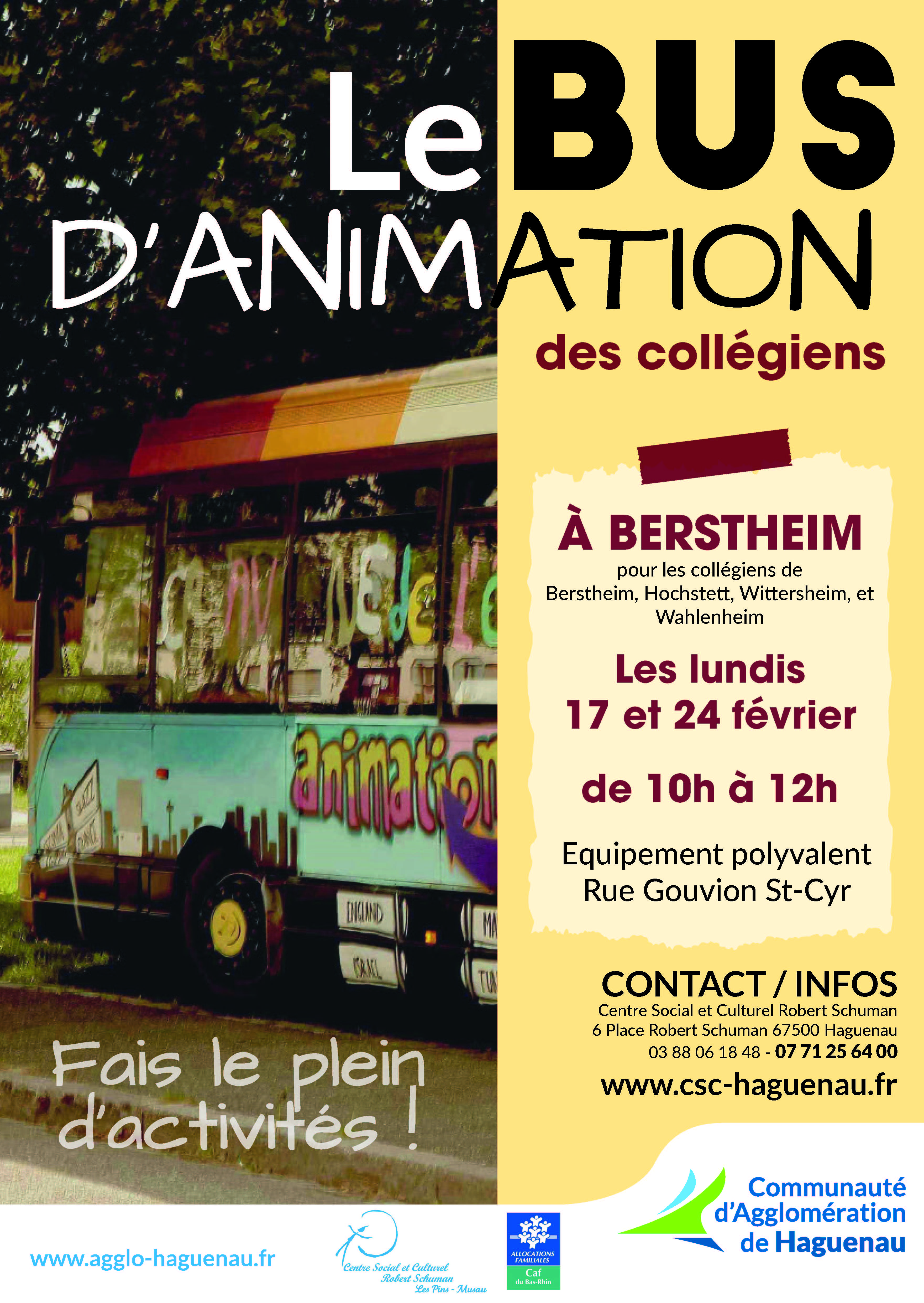 BUS D'ANIMATION à Berstheim