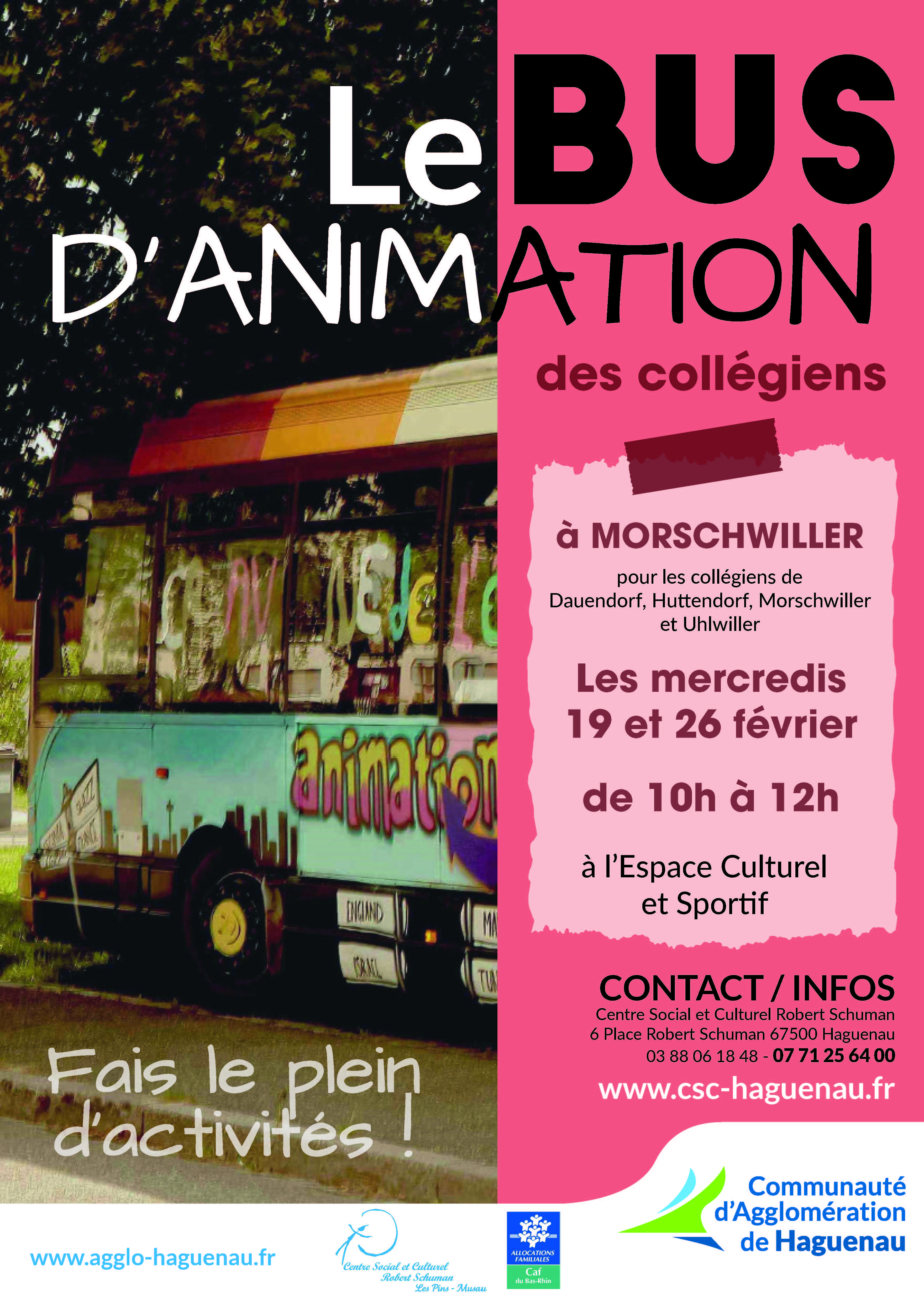 BUS D'ANIMATION à Morschwiller