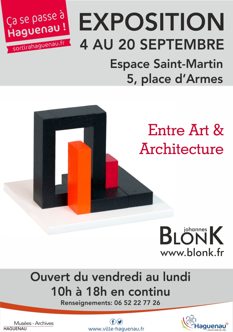 Exposition «BlonK – Entre Art et Architecture»