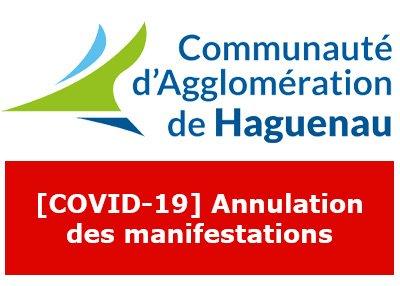 [COVID-19] Annulation des prochaines manifestations