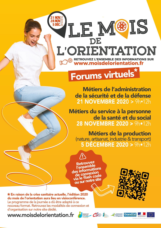 Le Mois de l'Orientation – Forums virtuels