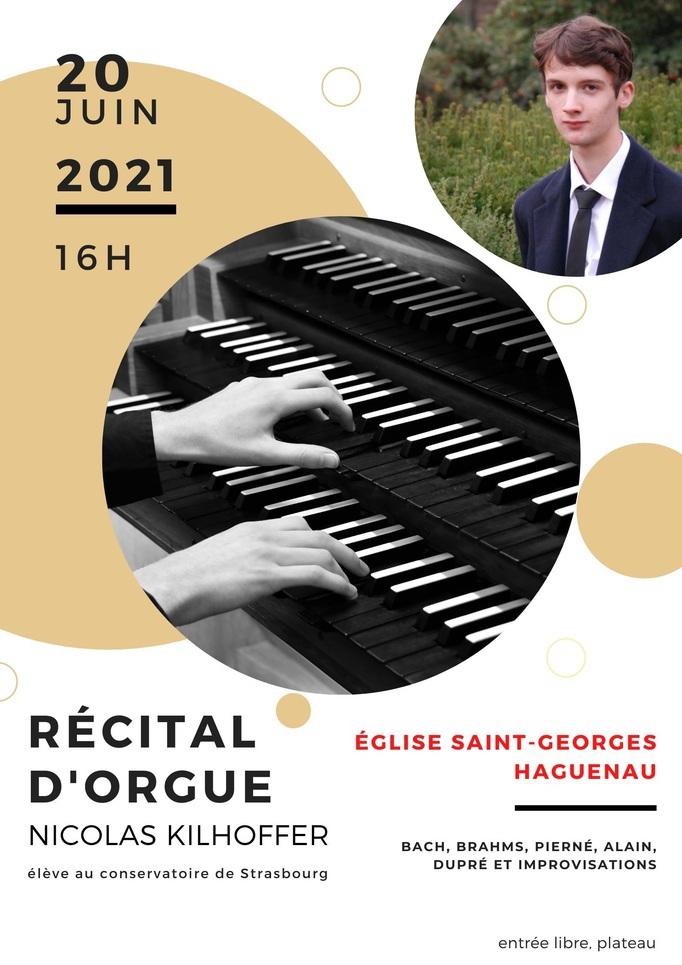 Récital d'orgue par Nicolas Kilhoffer