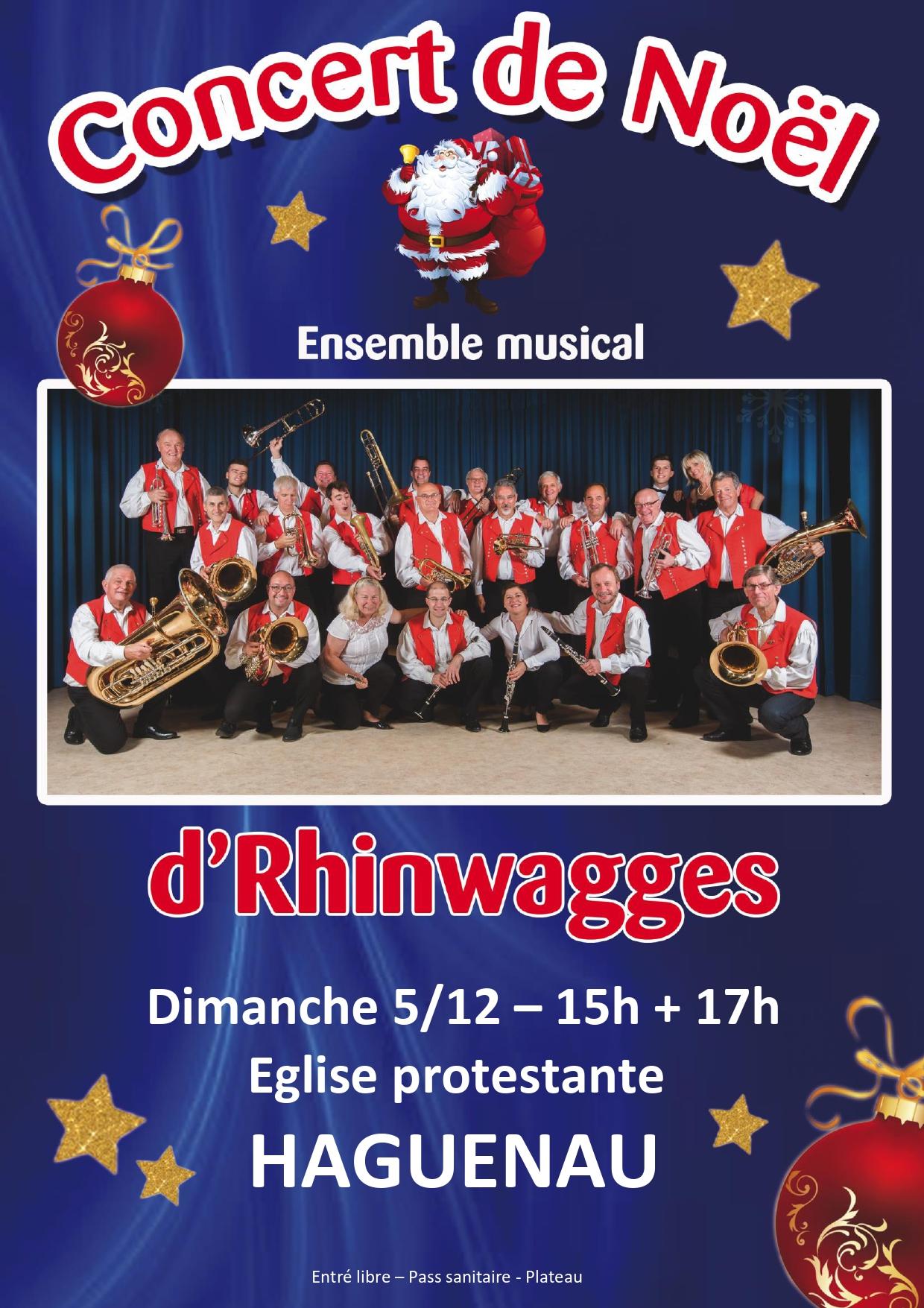 Concert de Noël – ensemble musical d'RHINWAGGES