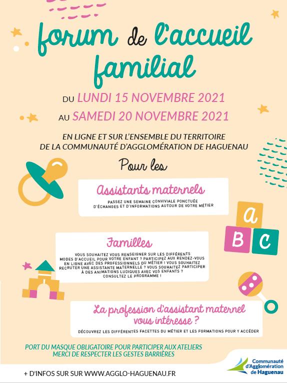 Forum de l'Accueil Familial
